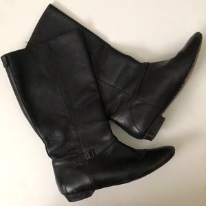 Black leather Frye boots, size 7.5